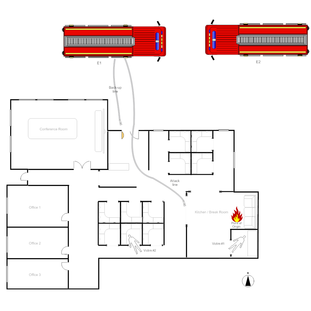 Example Image: Office Fire Scene