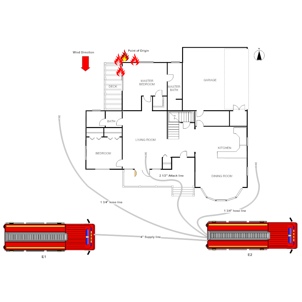 Example Image: Residential Fire Scene