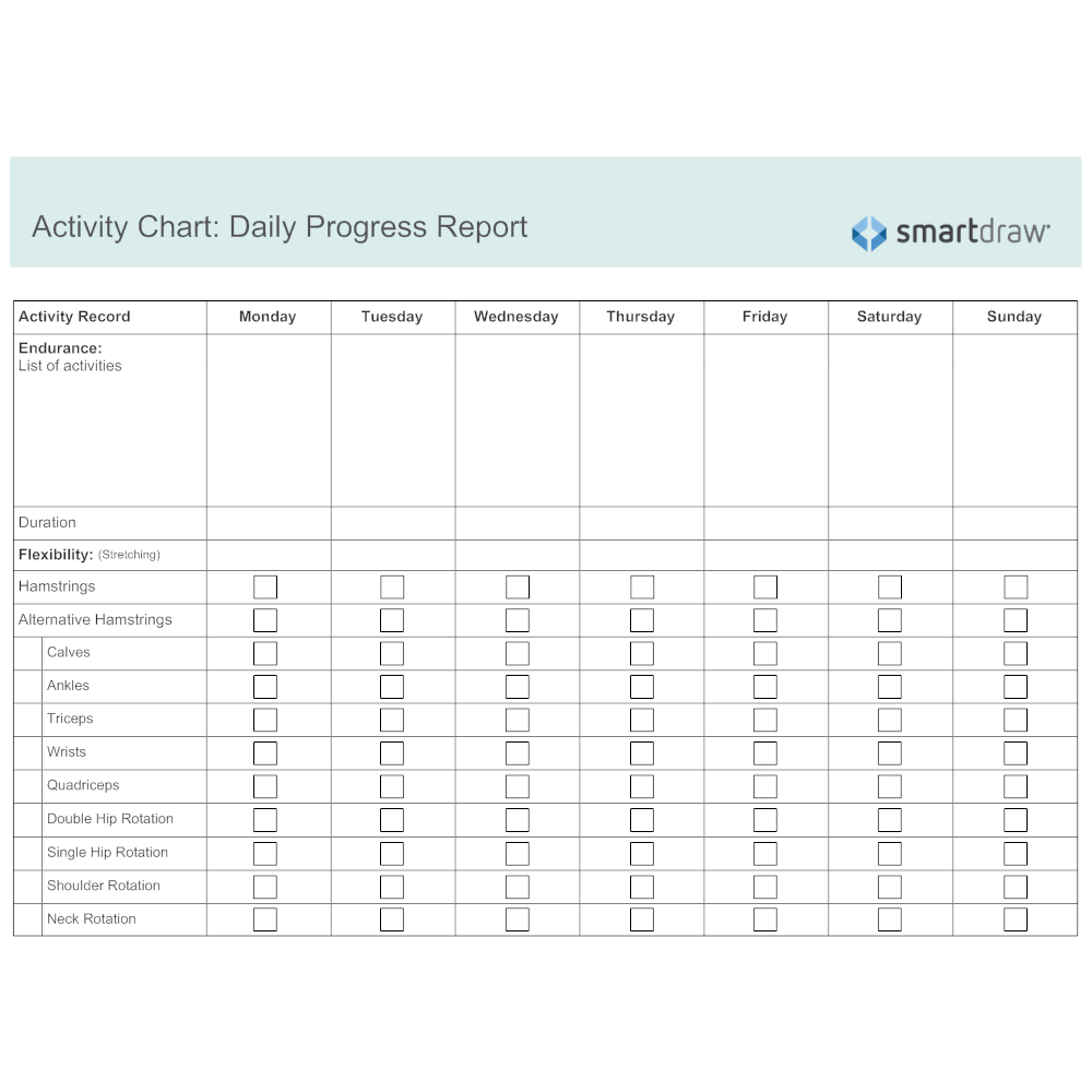 Activity Chart - Daily Progress Report