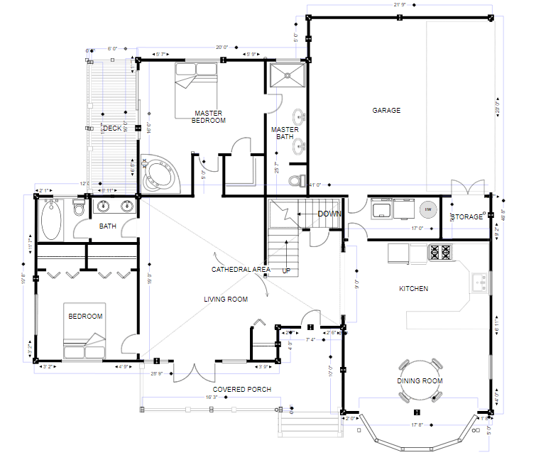 Architectural drawing software
