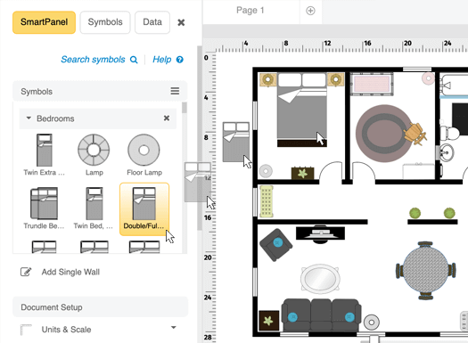 Home design software free download online app for Room furniture layout software