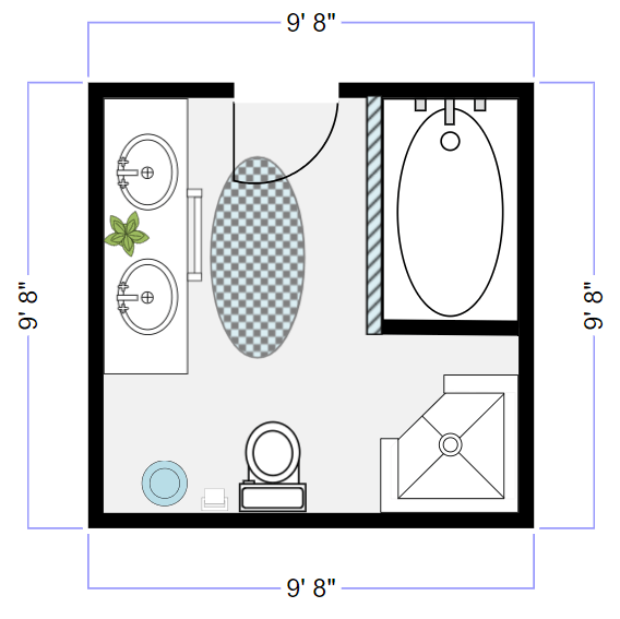 bathroom design software  free plans  layouts  try smartdraw, Bathroom decor