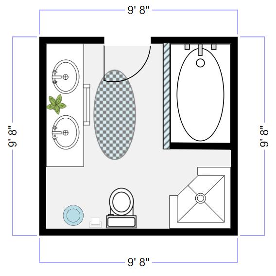 Gentil Try SmartDraw Free. Our Bathroom Design ...