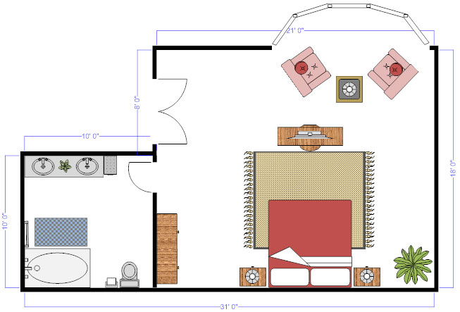 Floor plan furnature