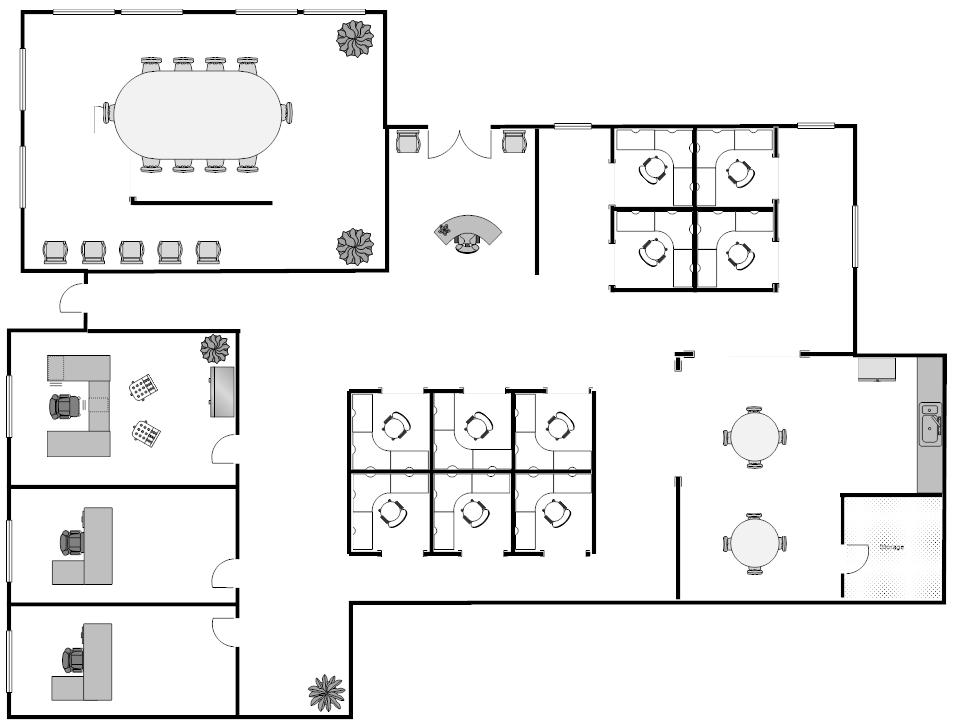 Building Diagram Software : Space Management Building