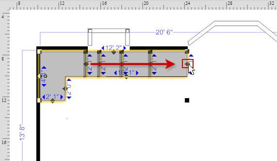 Floor plan cabinets