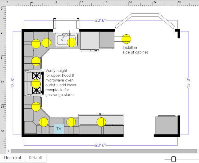 floor plan electric outlets - Smartdraw Floor Plan Tutorial