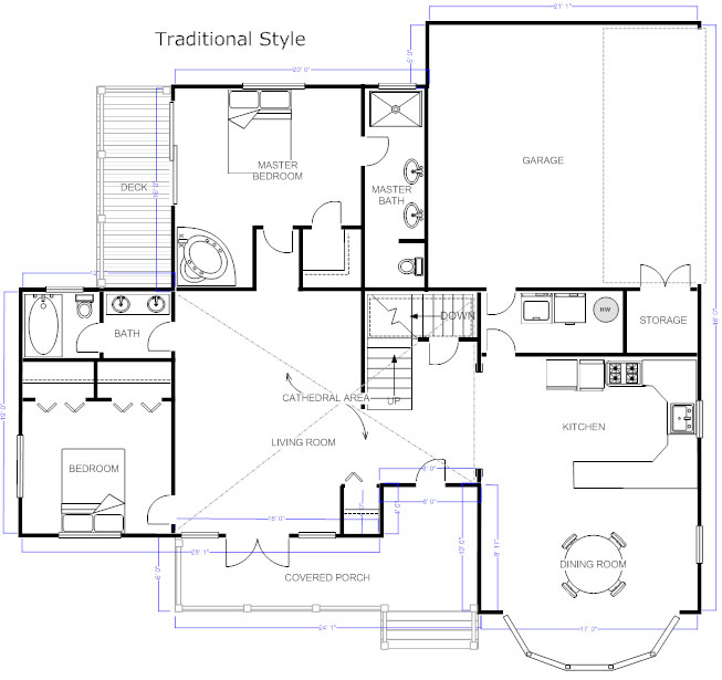 Floor plans learn how to design and plan floor plans for Blueprint of a house with measurements