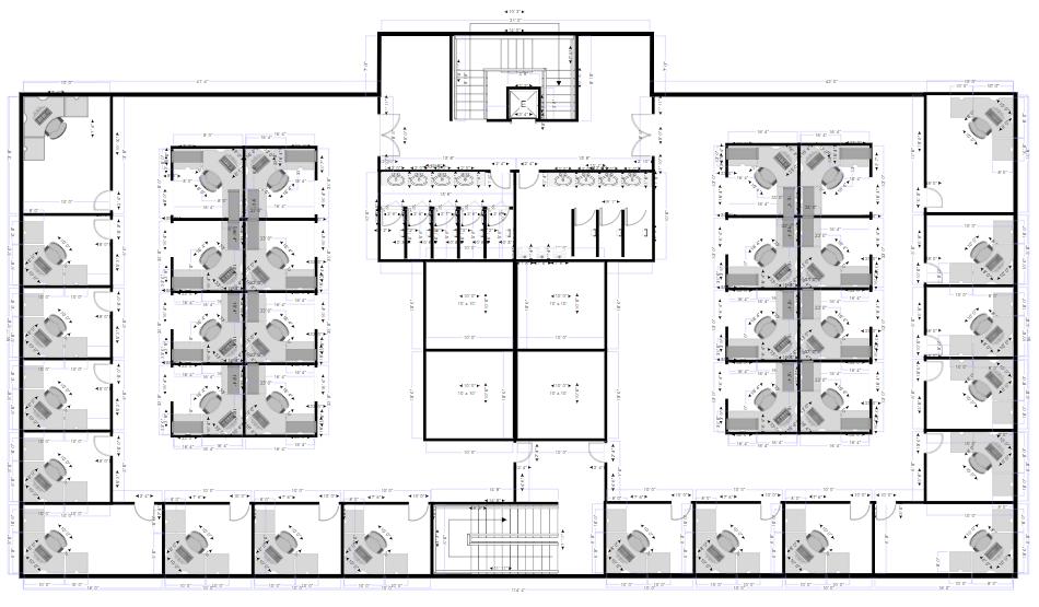 Floor plan made with SmartDraw's floor plan maker