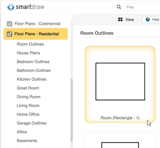 Floor plan categories