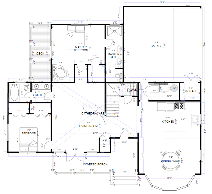 Drafting software try it free smartdraw for Floor plan drafting software