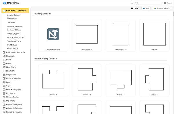 floor plan templates draw floor plans easily with templates rh smartdraw com free room diagram template Room Design Template
