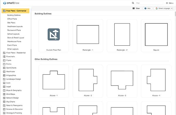 Floor plan templates