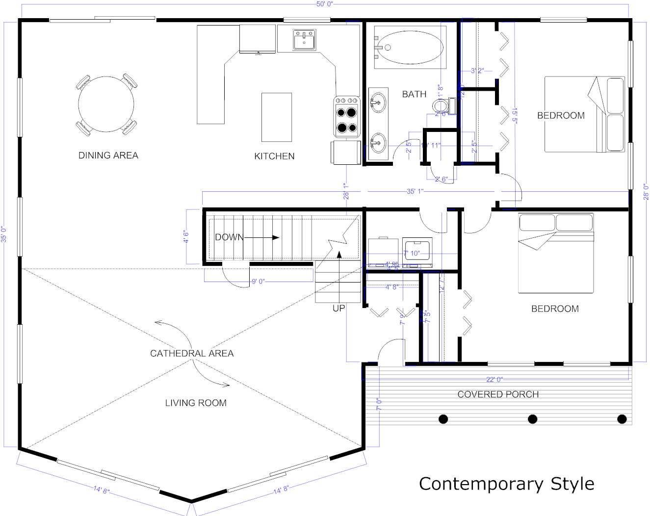 Blueprint software try smartdraw free for Drawing house floor plans