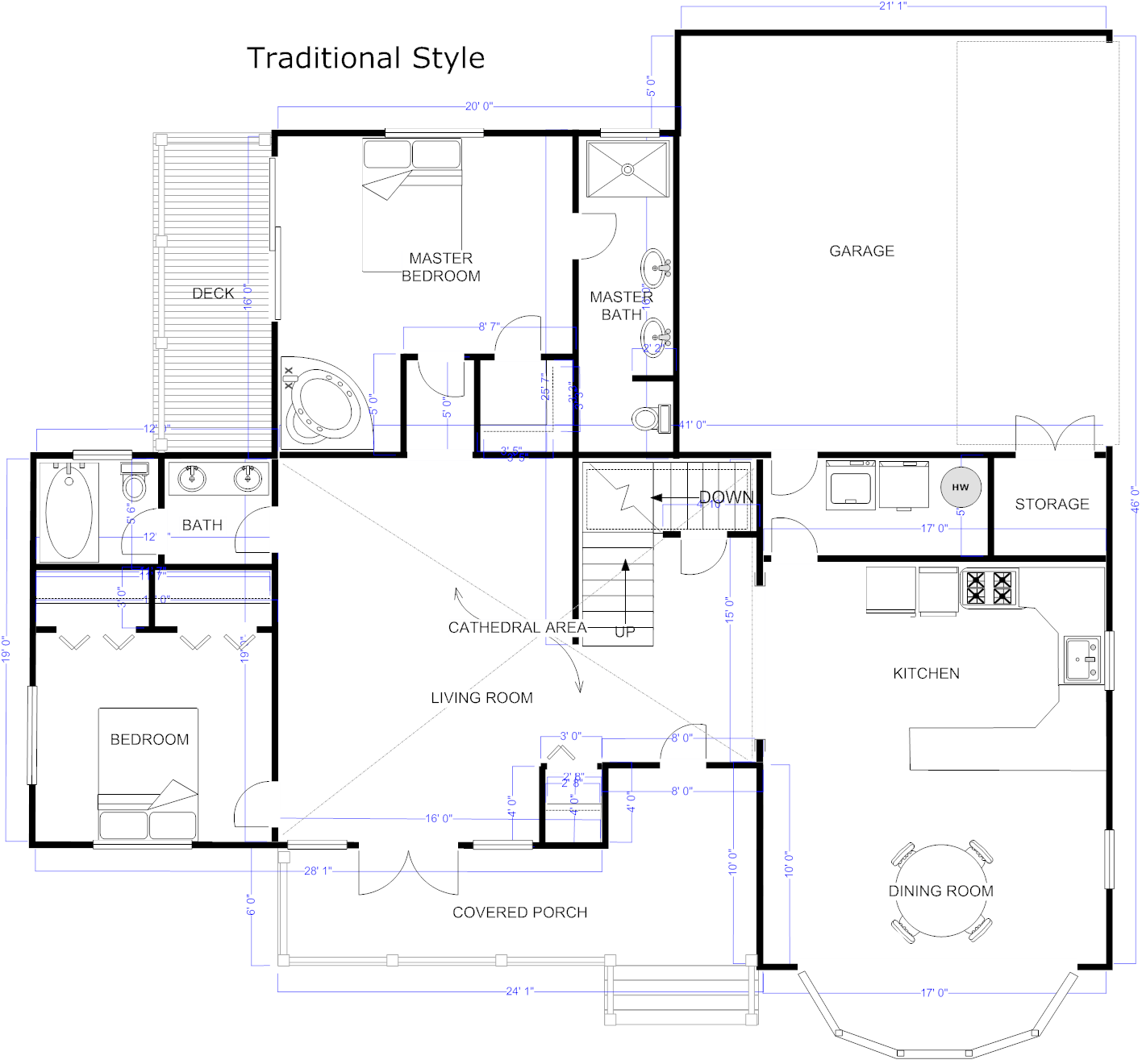 Free sample floor plans for houses gurus floor for Sample of house plan