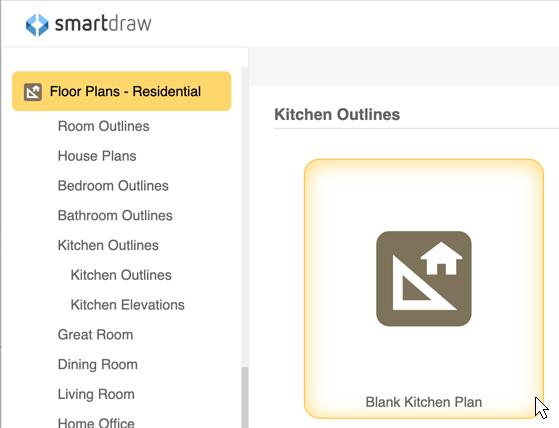 kitchen design plans. Kitchen template Design Software  Free Online App