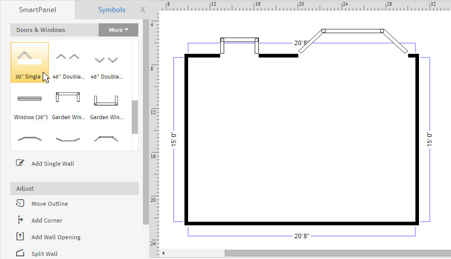 How to draw a floor plan with smartdraw for How to design a kitchen floor plan