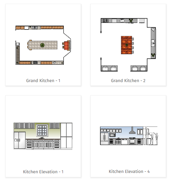 Kitchen planning software easily plan kitchen designs and layouts free trial for Free kitchen design layout templates