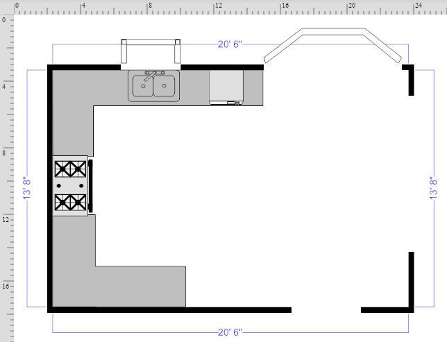 Kitchen Floor plan finished