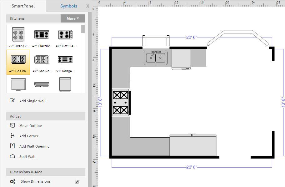 Advanced floor plan tutorial creating layers for Draw kitchen floor plan