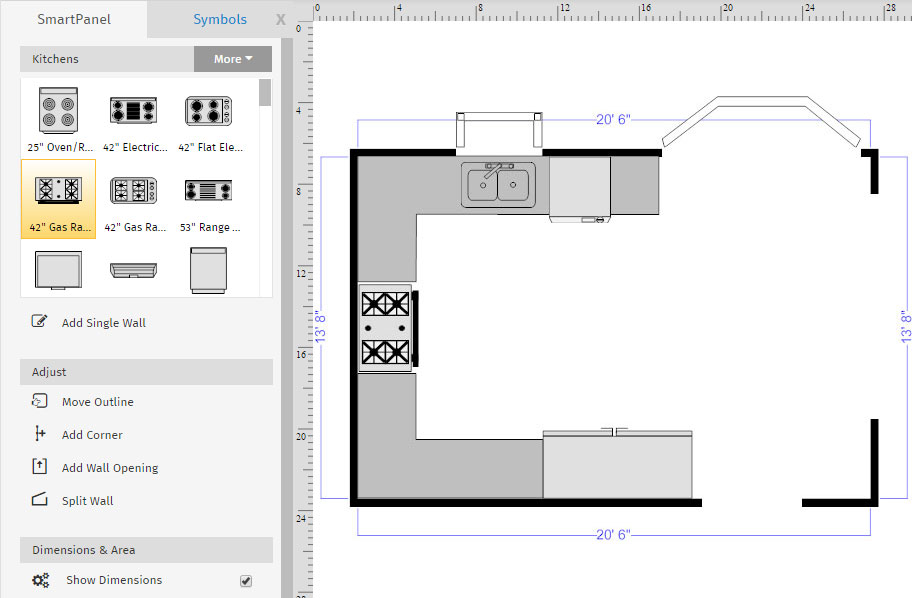 Kitchen Floor plan templates