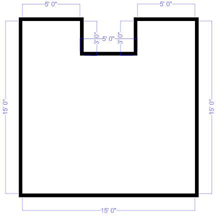 Floor plan outline