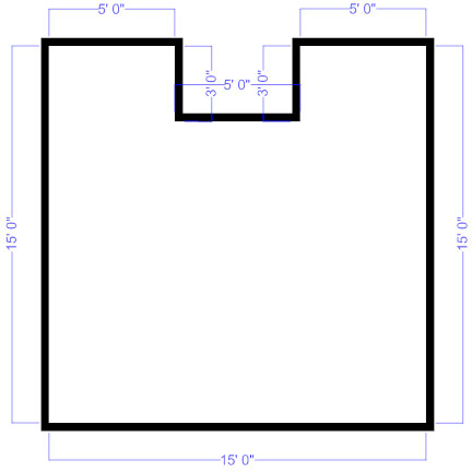 Floor plan outline