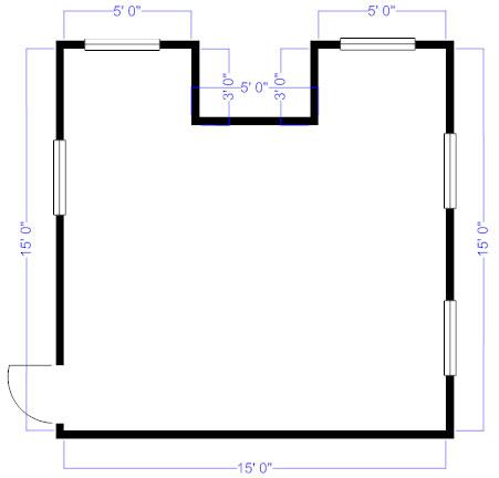 Floor plan perimeter