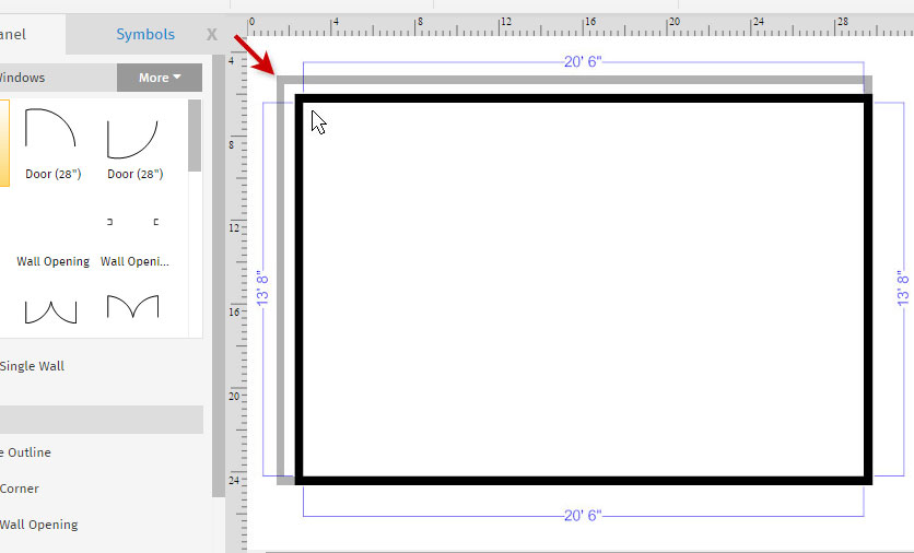 How to draw a floor plan with smartdraw create floor for Online room planner