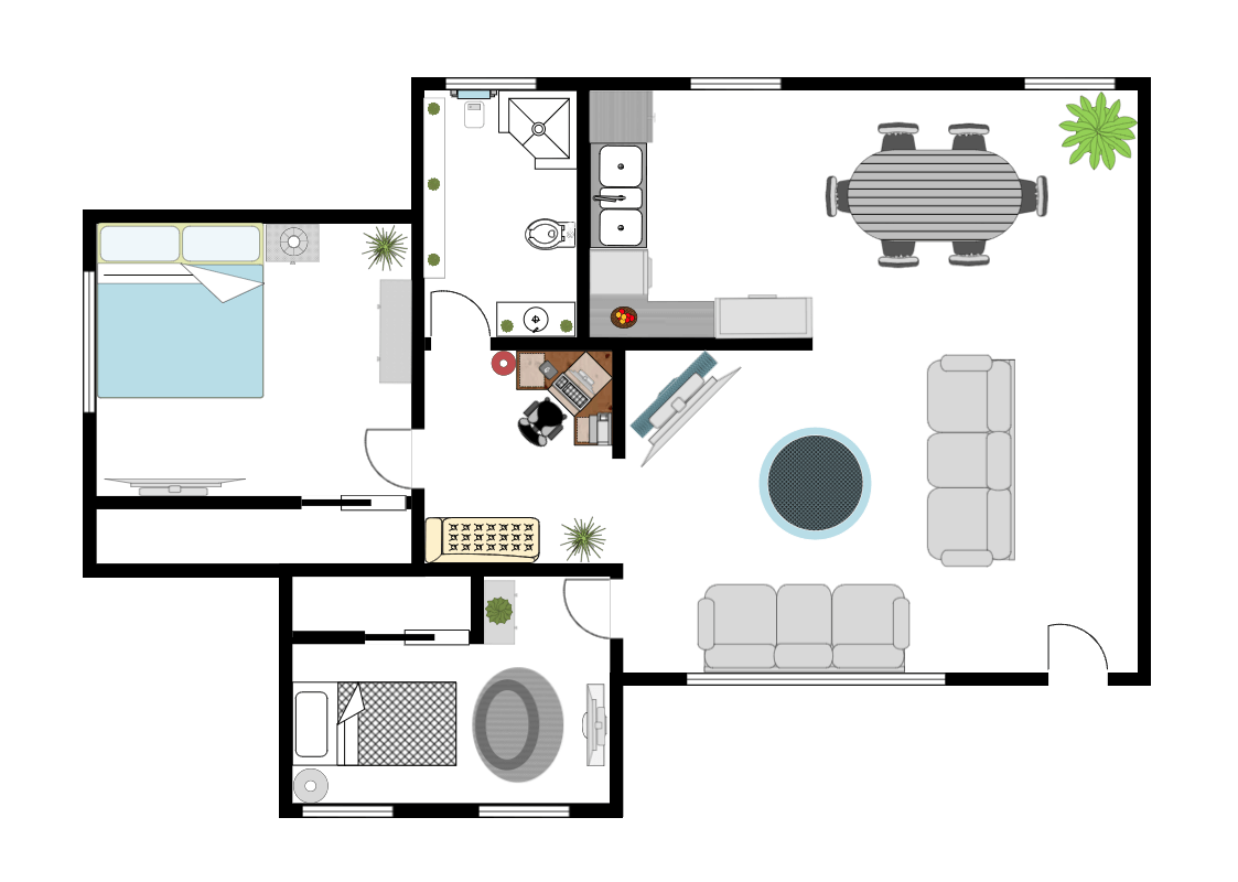 Room planning software