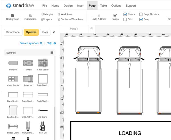 add warehouse symbols to your warehouse layout - Free Smartdraw Download