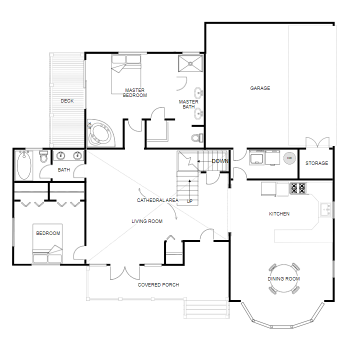 Floor plan creator and designer free online floor plan app for Free floor plan maker