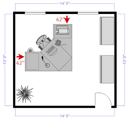 Office floor plan space