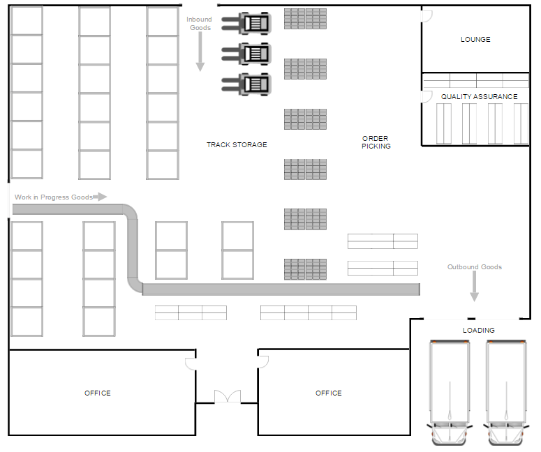 Basic Site Map Example: Warehouse Layout Design Software