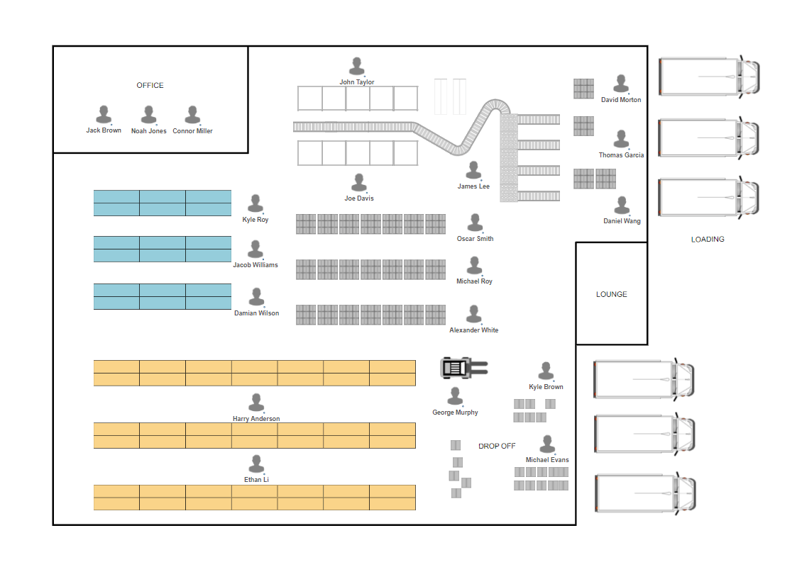 Warehouse layout and design software