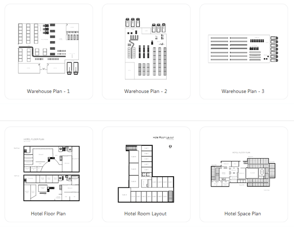 Warehouse and other facility layouts