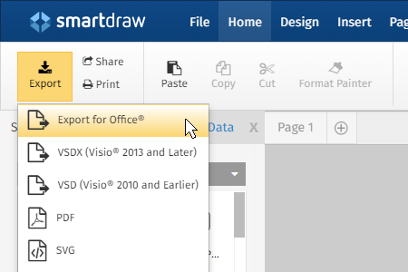 Inset flowchart into Microsoft Word