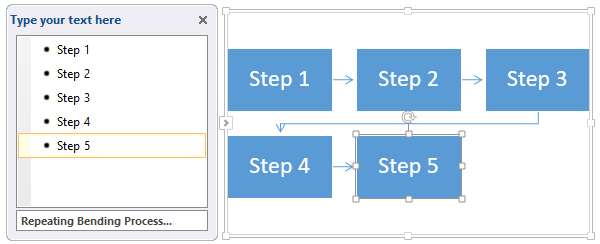 Insert text into flowchart in Word
