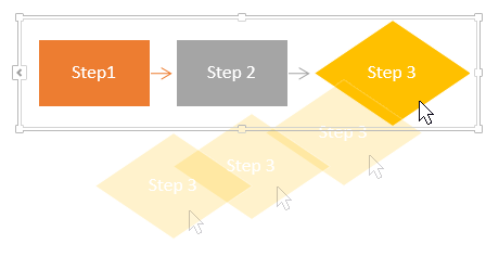 Move shapes for a flowchart in Word
