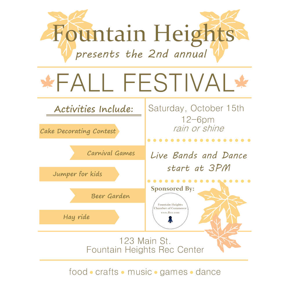 Example Image: Fall Festival Flyer