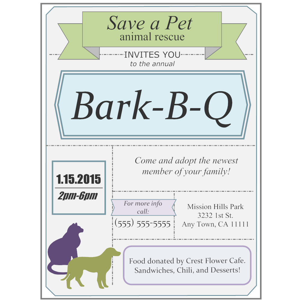 Example Image: Fundraiser Flyer