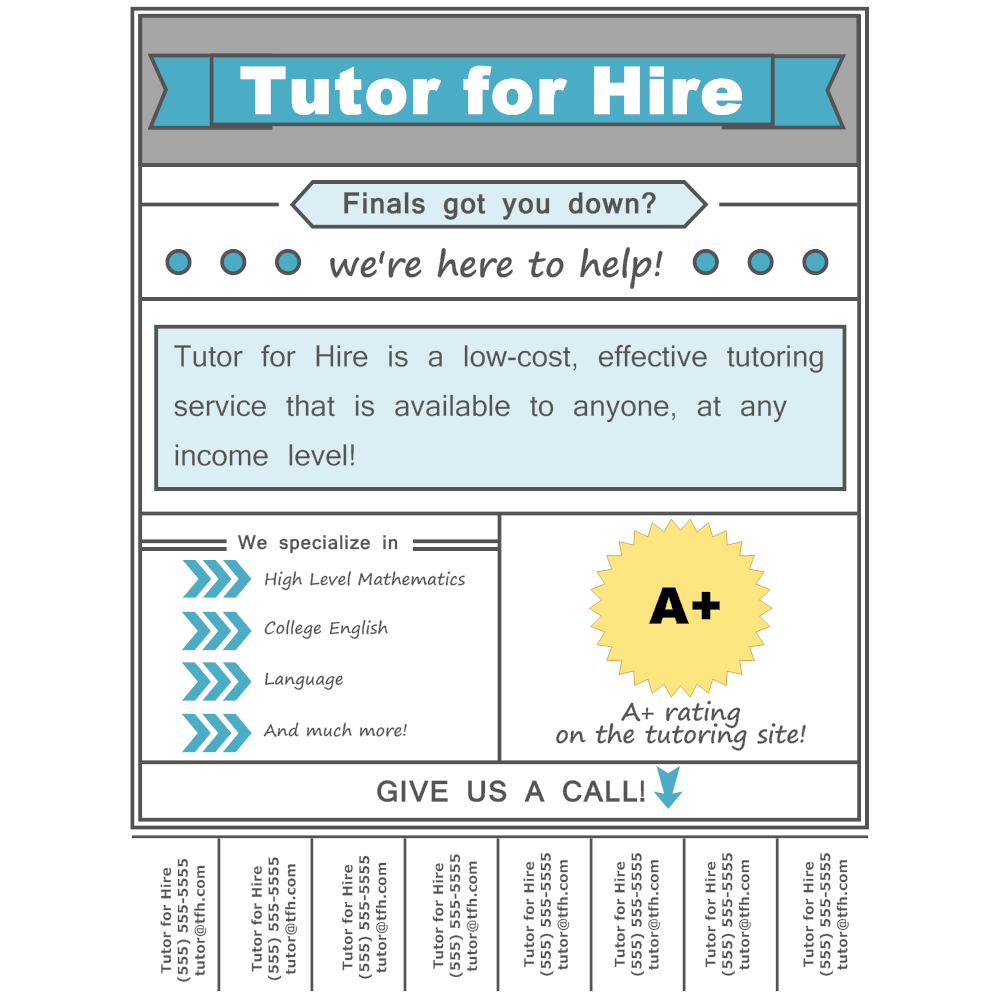 Tutoring flyer for Smartdraw certificate templates