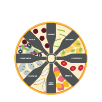 Wine and Pizza Infographic Template