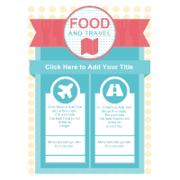 Food  and Travel Infographic Template