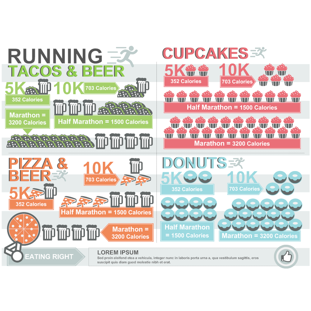 Example Image: Running Infographic