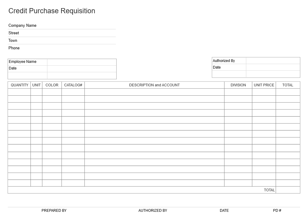 Business form example