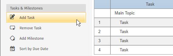 Add a Gantt chart task