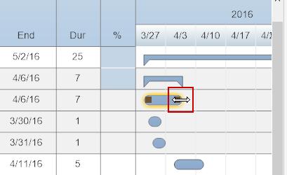 Adjust project task due date
