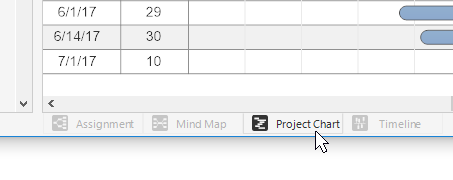 Project tabs