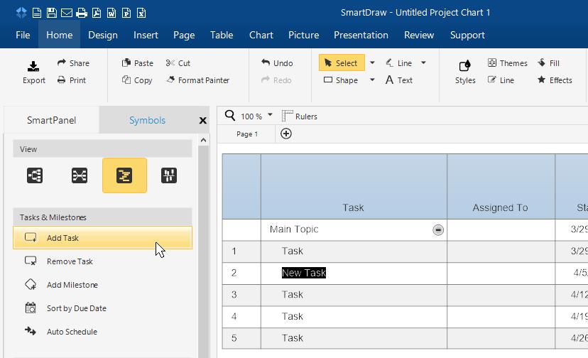 Add project task